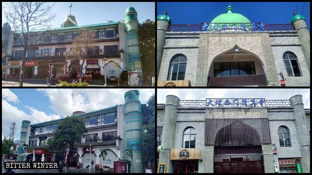 Las Mezquitas de la Puerta Sur y de la Puerta Oeste antes y después de ser rectificadas.
