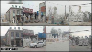 Se reprime a los fabricantes de estatuas budistas