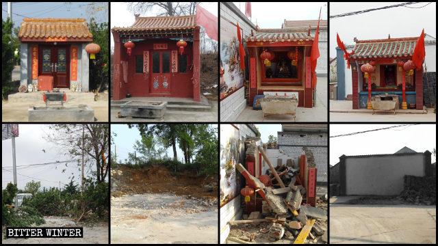 Una gran cantidad de templos pertenecientes a la religión popular fueron rectificados en el poblado de Heshun.