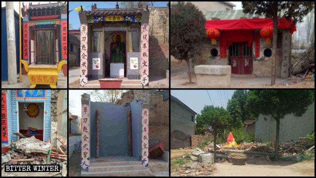 Una gran cantidad de templos pertenecientes a la religión popular han sido demolidos en la ciudad de Handan de Hebei.