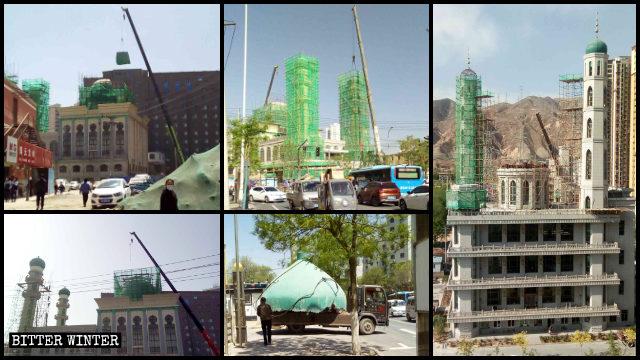 En Lanzhou, las cúpulas y los minaretes de las mezquitas fueron demolidos o alterados.