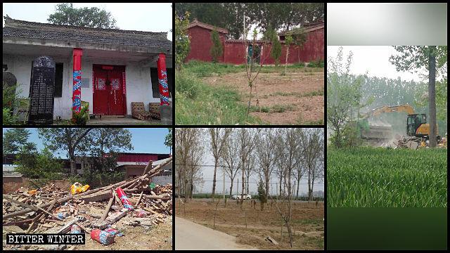 A lo largo de toda la provincia de Henán se destruyeron templos pertenecientes a la religión tradicional