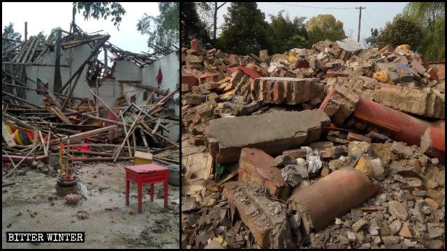 Algunos templos budistas que se encontraban emplazados en el condado de Lu administrado por Luzhou fueron demolidos.