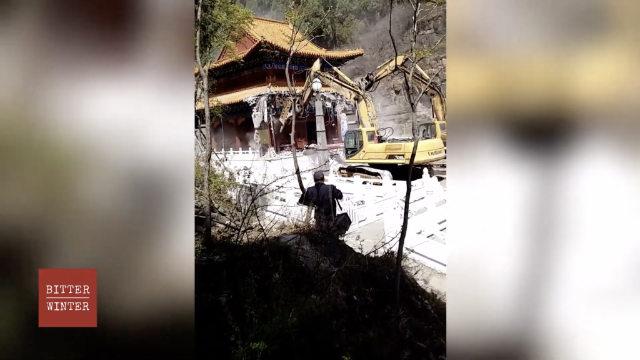 El Templo de Shengquan emplazado en la ciudad de Baoding está siendo demolido