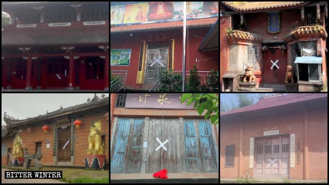 Numerosos templos budistas fueron clausurados en Luzhou.