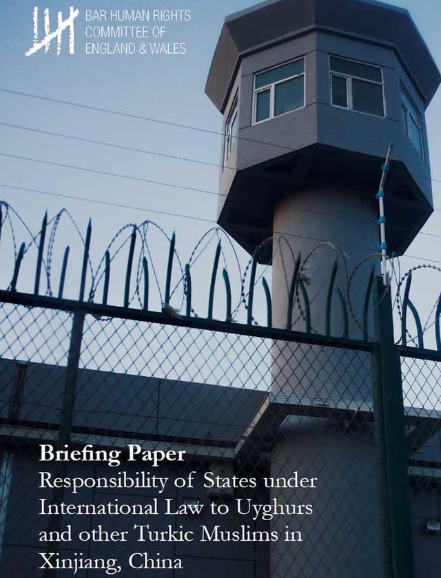 Responsabilidad de los Estados en virtud del derecho internacional con respecto a los uigures