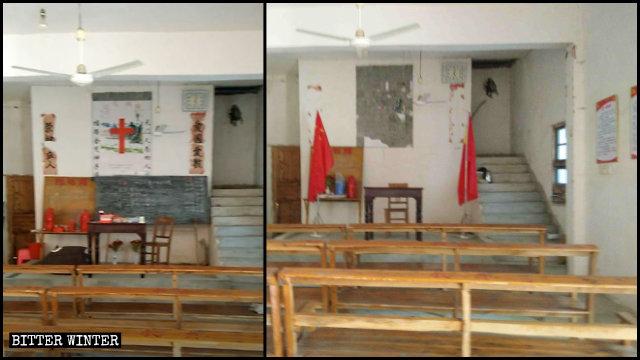 Un lugar perteneciente a una iglesia de las Tres Autonomías emplazado en el condado de Duchang fue convertido en un centro de actividades para los miembros del Partido Comunista Chino.
