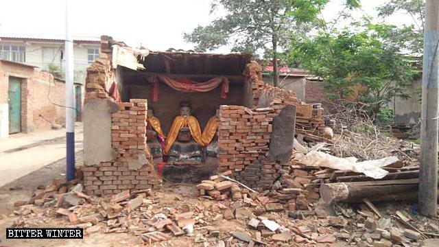 Un templo perteneciente a una religión popular que se encontraba emplazado en el distrito de Hanshan fue demolido.