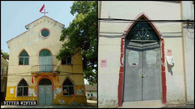 Una iglesia católica emplazada en el poblado de Tongjia fue clausurada.