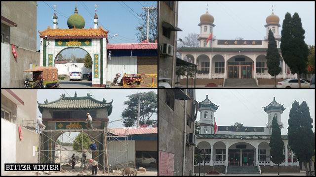 El techo de la mezquita emplazada en el poblado de Zhongtou ahora se asemeja al estilo arquitectónico tradicional chino.
