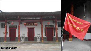 Numerosos templos ancestrales fueron convertidos en bases de propaganda del Partido Comunista