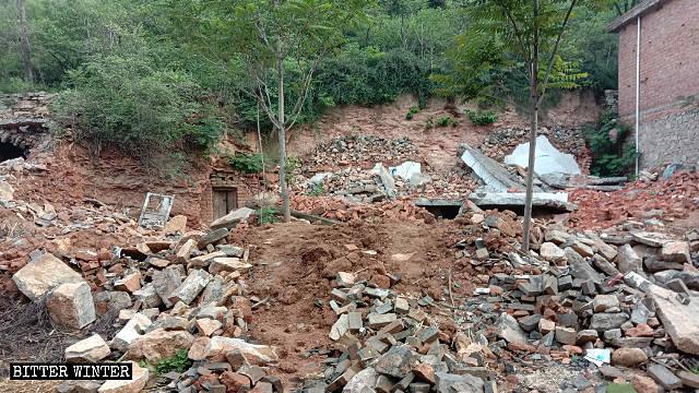 La vivienda de la mujer fue arrasada hasta los cimientos