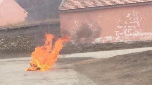 Una autoinmolación llevada a cabo en Ngaba en el año 2019
