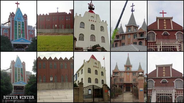Una gran cantidad de iglesias de las Tres Autonomías emplazadas en la provincia de Anhui fueron despojadas de sus cruces.