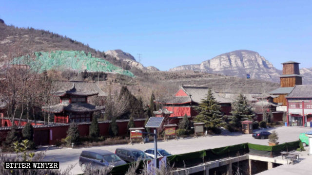 Vista del Templo de Lingyan sin el Palacio de Tushita.