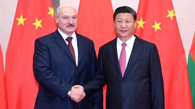 Xi Jinping y bielorruso Lukashenko