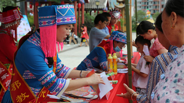 El 18 de julio, durante el Festival Zhuzhu se llevó a cabo una actividad de propaganda anti-xie jiao en la ciudad de Hechi de Guangxi.