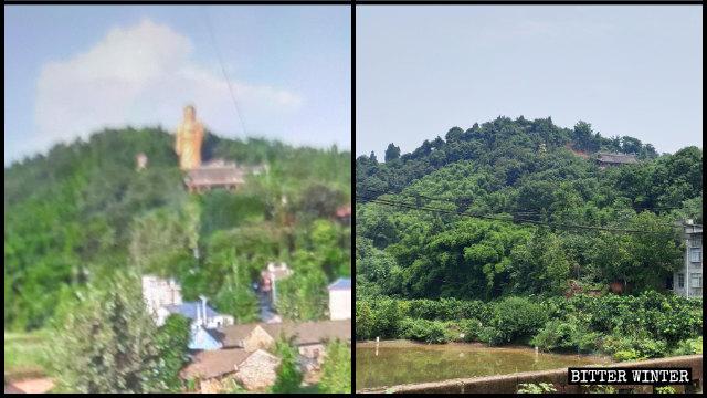 """""""El Gran Buda Nro. 1 de Meizhou"""" fue demolido en noviembre del año pasado."""