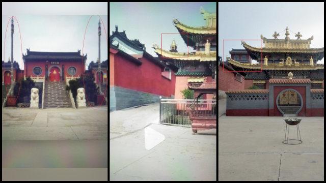 """El """"sinizado"""" Templo de Huiquan."""