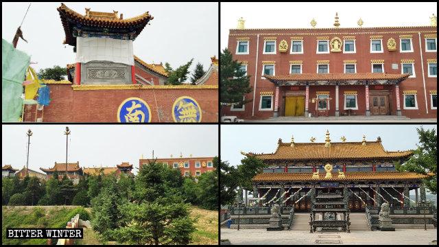 Las apariencias originales del Templo de Fuyun.