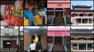 Más demoliciones de templos y destrucción de estatuas religiosas en Hubei