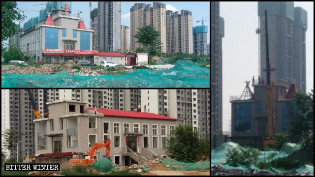 Una iglesia de las Tres Autonomías que se encontraba emplazada en el municipio de Jianzhuang fue arrasada hasta los cimientos el 6 de julio.