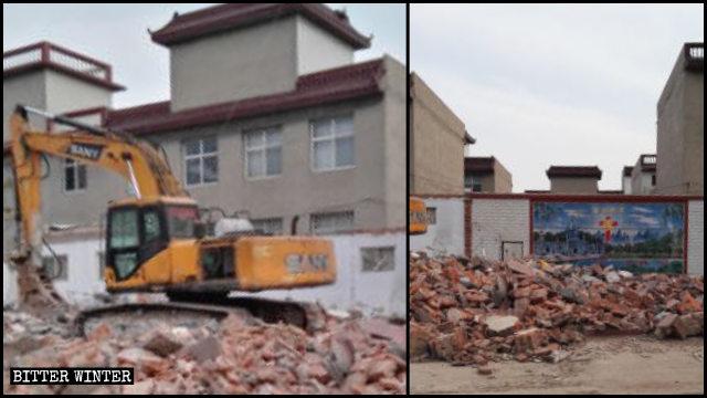 Una iglesia de las Tres Autonomías que se encontraba emplazada en el distrito de Fuxing fue demolida el 15 de abril.